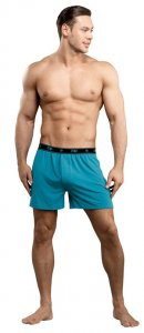 Male Power Bamboo Loose Boxer Shorts Underwear Teal 160-171 USA1