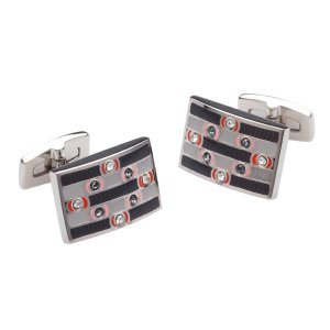 Duncan Walton Pictor Cufflinks Grey C2633B