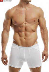 Go Softwear M Padded Butt Boxer Brief Underwear White 2733M