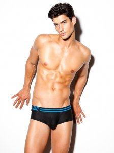 N2N Bodywear Performance X Boxer Brief Underwear Black PX5