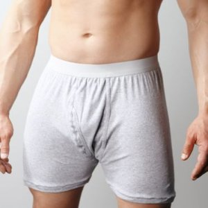 Players Big Man's Cotton Mid Length Long Boxer Underwear Heather Grey