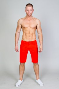 Timoteo Hermosa Knee Length Shorts Orange 1231