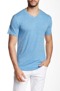 Mr.Swim The Casual V Neck Short Sleeved T Shirt Heather Royal