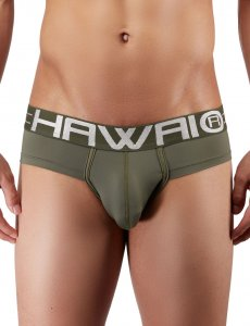 Hawai Microfiber Brief Underwear Military Green 41945