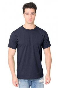 Royal Apparel Unisex Recycled Jersey Short Sleeved T Shirt Recycle Navy 65051