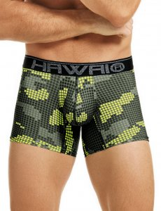 Hawai Digital Cloud Boxer Brief Underwear Green 41809