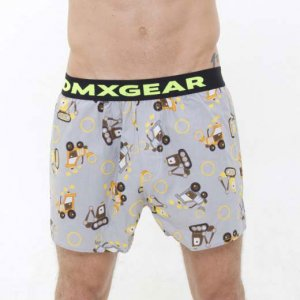 DMXGEAR Tartan Bulldozers Luxury Loose Boxer Shorts Underwea...