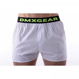 DMXGEAR Anatomic Fit Luxury Loose Boxer Shorts Underwear White