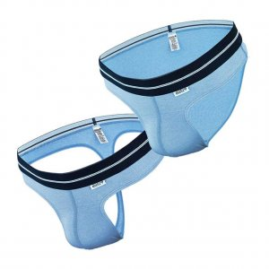 Dietz [2 Pack] Komfort Thong & Brief Underwear Blue