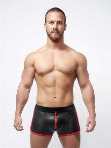 Mister B Neoprene Pouch Shorts Black/Red 340330