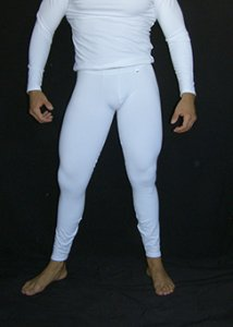 Arroyman Cotton Spandex Fitness Pants White