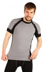Litex Contrast Thermal Short Sleeved T Shirt Grey 90044