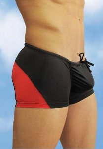 Ergowear Feel Mini Square Cut Trunk Swimwear Black/Red