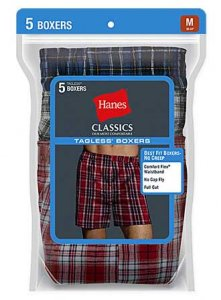 Hanes [5 Pack] Tartan Loose Boxer Shorts Underwear Assorted V-745BP5