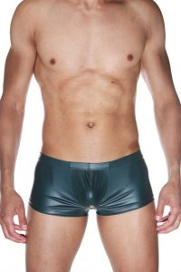 LaBlinque Wetlook Cheeky Boxer Brief Underwear Green 15527
