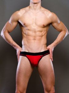 Activeman Elite Jock Strap Underwear Red/Black A126