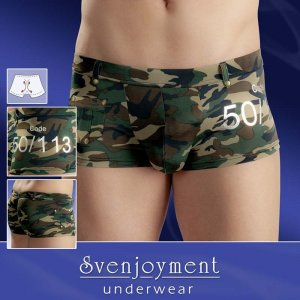 Svenjoyment Belt Loops & Studs Pocket Boxer Brief Underwear Camouflage 2130211