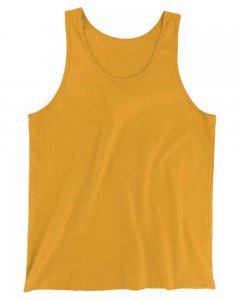 The Well Branded 100% Soft Airlume Cotton Classix Tank Top T Shirt Saffron