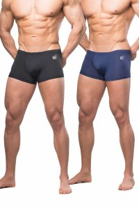 Jed North [2 Pack] Align Sports Boxer Brief Underwear Black ...
