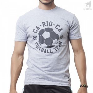 Clearance CA-RIO-CA Football Team Short Sleeved T Shirt Grey CRC-A203125