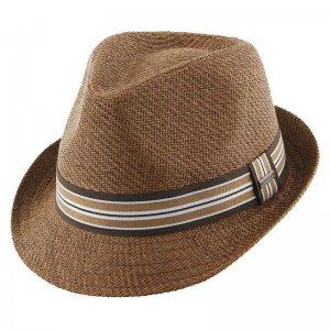 d36de42a6c6 Kooringal Flynn Paper Fedora Hat Brown KM152
