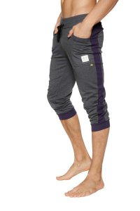 4-rth Cuffed Yoga 3/4 Pants Charcoal/Eggplant