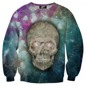 Mr. Gugu & Miss Go Flower Skull Unisex Sweater S-PC102