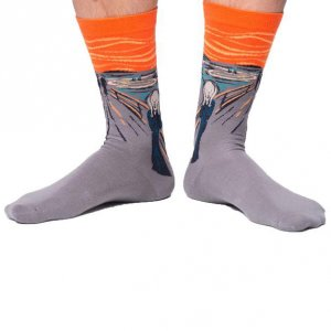 Curious Beaver Scream Socks SOC006C14