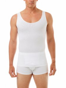 Underworks Shapewear Ultra Light Compression Cotton Spandex Tank Top T Shirt White 573100