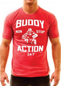 Ajaxx63 Buddy Action Athletic Fit Short Sleeved T Shirt Red ...