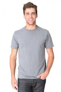 Royal Apparel Unisex Union Made Recycled Jersey Short Sleeved T Shirt Recycle Med Grey 65051UNN