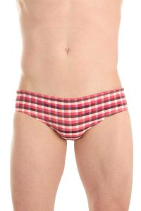 L'Homme Invisible Vichy Bikini Swimwear Red BA221-VIC-009