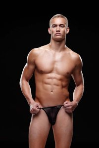 Envy Mesh Thong Underwear Black E007