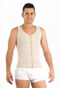 Ann Michell Zippered Front Control Vest Nude AM1053
