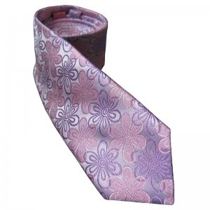 Distino Of Melbourne Floral Slim Nude Silk Necktie Pink NS9
