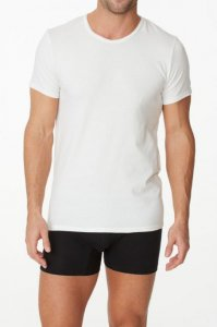 Parker & Max Classic Cotton Stretch Crew Neck Short Sleeved T Shirt White PMFPCS-TCN1
