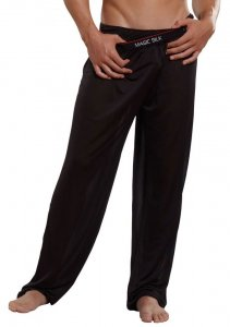 Magic Silk Silk Knit Lounge Pants Classic Black 1886