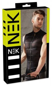 NEK Powernet Zipper Muscle Top T Shirt Black 2161087