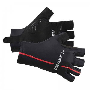 Craft Tech Short Finger Unisex Gloves Black/Bright Red 19033...