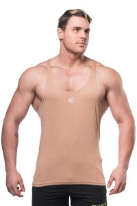 Jed North Classic Stringer Tank Top T Shirt Brown TANK007