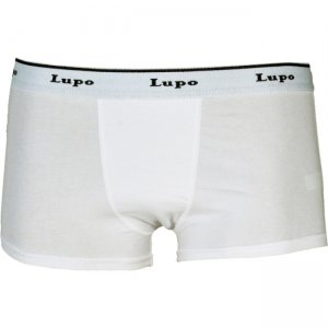Lupo Organic Cotton Trunk Boxer Brief Underwear White 690-01