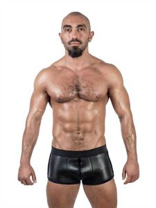 Mister B Neoprene 3 Way Full Zip Shorts Black 341100