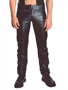 Mister B Leather Zip Jeans 103000