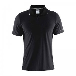 Craft In The Zone Pique Short Sleeved Shirt Black 1902643