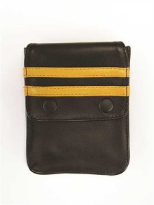Mister B Harness Leather Wallet Black/Yellow 601313
