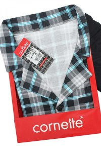 Cornette Mike Checker 114/32 Pyjama Long Sleeved Shirt & Pan...