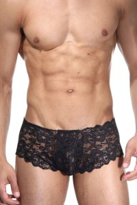 LaBlinque Lace Brazilian Boxer Brief Underwear Black LB-15226