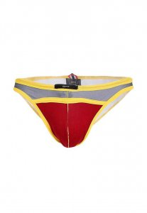 Spy Henry Lau Super Sexy Low Waist Bikini Swimwear Red/Grey/Yellow SP788AA72CZNHK