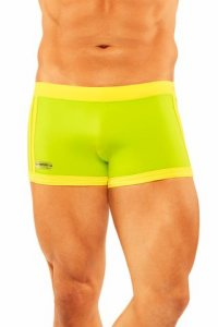 Narciso Square Cut Trunk Swimwear BAHAMAS LIME/YELLOW