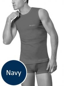 Nukleus Rebirth Sea Andaman Contempo Muscle Top T Shirt Navy NST9090